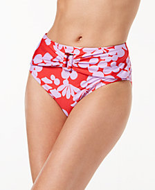 Trina Turk Bali Blossoms Printed High-Waist Bikini Bottoms