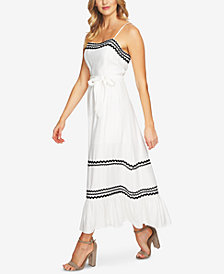CeCe Embroidered Maxi Dress