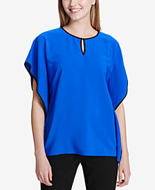 Calvin Klein Colorblocked Caftan Top