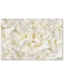 "Cora Niele 'White Peony Flower' 30"" x 47"" Canvas Art Print"