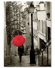 "Sue Schlabach 'Paris Stroll II' 24"" x 32"" Canvas Wall Art"