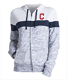 5th & Ocean Women's Cleveland Indians Space Dye Hoodie