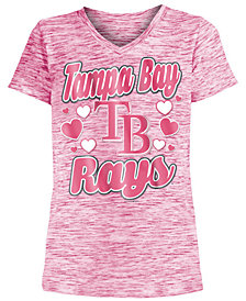 5th & Ocean Tampa Bay Rays Spacedye T-Shirt, Girls (4-16)