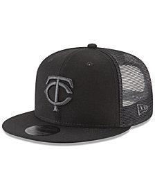 New Era Minnesota Twins Blackout Mesh 9FIFTY Snapback Cap
