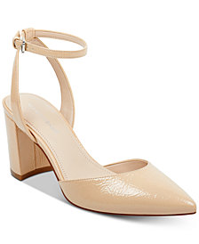 Marc Fisher Cedrina Two-Piece Block-Heel Pumps
