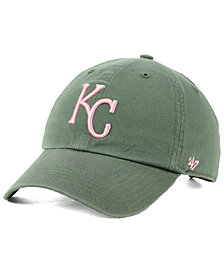 '47 Brand Kansas City Royals Moss Pink CLEAN UP Cap