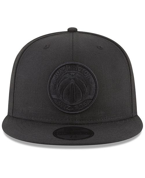 pretty nice aca4b d783f ... New Era Washington Wizards Blackout 59FIFTY Fitted Cap ...