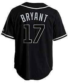 Majestic Men's Kris Bryant Chicago Cubs Pitch Black Jersey