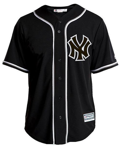 Majestic Men s New York Yankees Pitch Black Jersey - Sports Fan Shop ... 00a201d7979