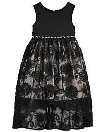 Bonnie Jean Little Girls Pearl-Trim Lace Dress