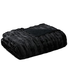 "Duke Ribbed 50"" x 60"" Faux-Fur Throw"
