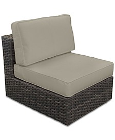 Viewport Outdoor Armless Unit with Sunbrella® Cushion, Created for Macy's