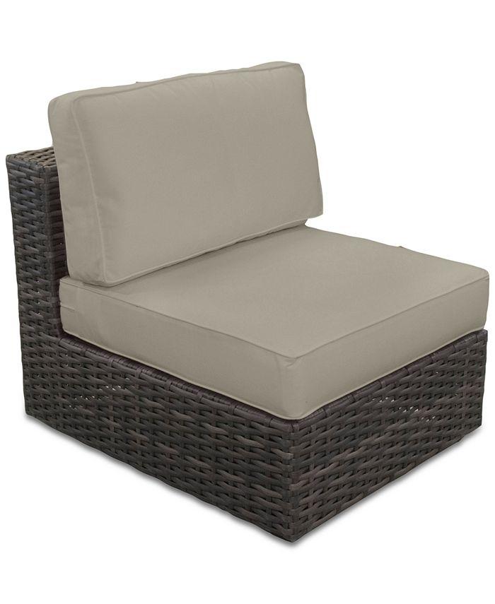 Furniture - Viewport Outdoor Armless Unit with Sunbrella® Cushion