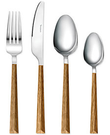 Tomodachi By Hampton Forge Dali Wood 16-Pc. Flatware Set, Service for 4