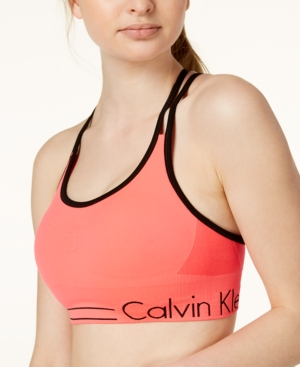 CALVIN KLEIN PERFORMANCE STRAPPY-BACK LOW-IMPACT SPORTS BRA acb2f5782