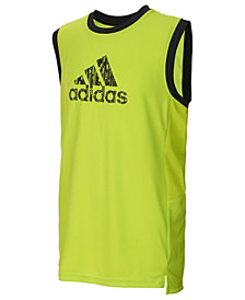 adidas Big Boys Logo-Print Tank Top