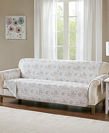 Madison Park Serendipity Quilted Reversible Printed Furniture Protectors