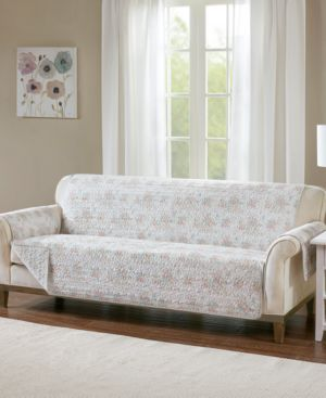 Madison Park Serendipity Quilted Reversible Printed Sofa Protector 6199056