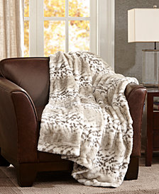"Madison Park Signature Serengeti Reversible 50"" x 60"" Faux-Fur Throw"