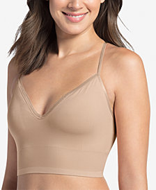 Jockey Women's Natural Beauty™ Microfiber Removable Cup Bralette with Back Closure 2456, Created for Macy's