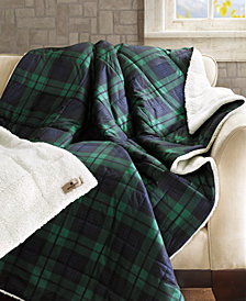 "Woolrich Brewster Reversible 50"" x 70"" Softspun Down-Alternative Throw"
