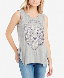 Jessica Simpson Juniors' Linnie Graphic Tank Top