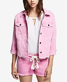 Sanctuary Frayed Denim Jacket
