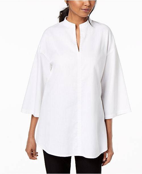 a3faa361c6e Eileen Fisher. Organic Cotton Wide-Sleeve Tunic. Be the first to Write a  Review. main image; main image ...