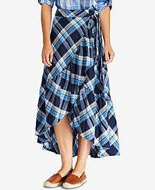 Lauren Ralph Lauren Petite A-Line Plaid Skirt