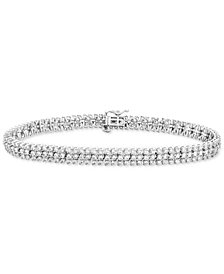 Diamond Cluster Link Bracelet (4 ct. t.w.) in 14k White Gold