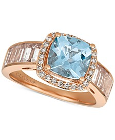 Multi-Gemstone (2-5/8 ct. t.w.) & Diamond (1/6 ct. t.w.) Ring in 14k Rose Gold