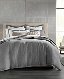 Grey Linen King Duvet Cover, Created for Macy's