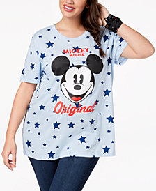 Mad Engine Plus Size Mickey Mouse Star T-Shirt