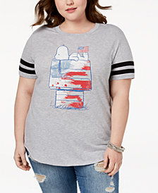 Hybrid Plus Size Snoopy Graphic T-Shirt