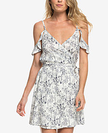 Roxy Juniors' Currently Drifting Printed Wrap Dress