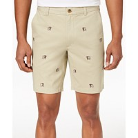 Club Room Men's Bulldog Embroidered 9-inch Shorts