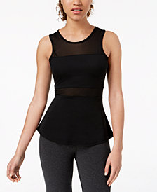 Material Girl Active Juniors' Illusion Active Tank Top, Created for Macy's
