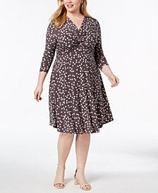 Anne Klein Plus Size Printed A-Line Dress
