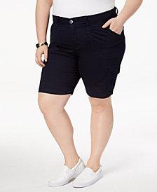 Lee Platinum Plus Size Denim Cargo Shorts
