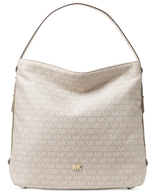 2de9edd7dfa4 Michael Kors Signature Large Griffin Hobo   Reviews - Handbags ...