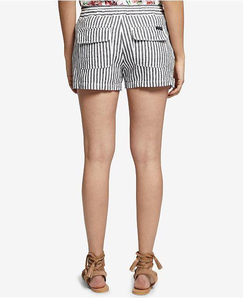 Striped Tiki Sanctuary Stripe Shorts Linen 0rdwtd