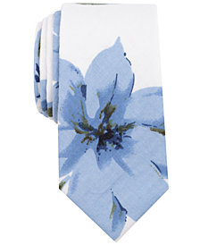 Bar III Men's Dylan Floral Skinny Tie, Created for Macy's