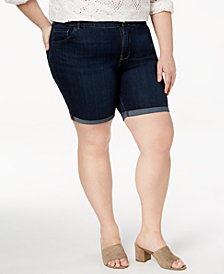 Lee Platinum Plus Size Roll-Cuff Denim Shorts