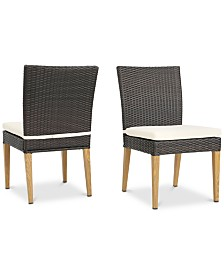 Carlsbad Outdoor Water Resistant Chairs (Set of 2), Quick Ship