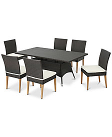 Serene 7-Pc. Outdoor Dining Set, Quick Ship