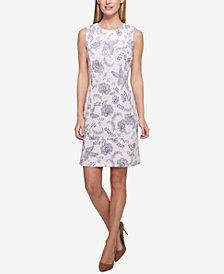 Tommy Hilfiger Floral-Printed Scuba Sheath Dress