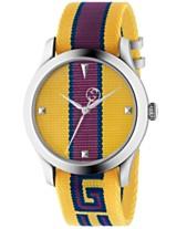 fc270d58a Gucci Men's Swiss G-Timeless Yellow, Purple & Blue Nylon Strap Watch 38mm