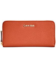 Calvin Klein Saffiano Zip Around Wallet