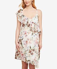Jessica Simpson Maternity Ruffled Printed Dress