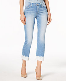 Flying Monkey Frayed Dip-Dye Jeans